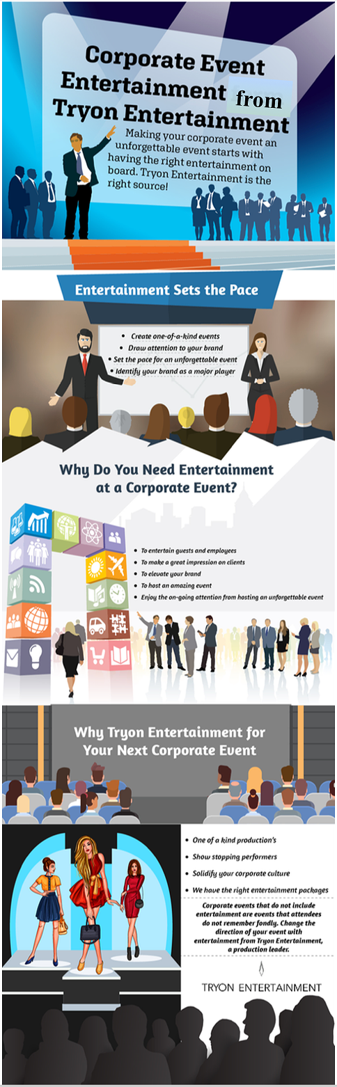 corporate entertainment, Tryon Entertainment infographic