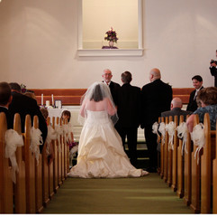 Father giving the bride to her groom