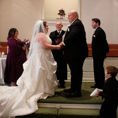A couple get's married