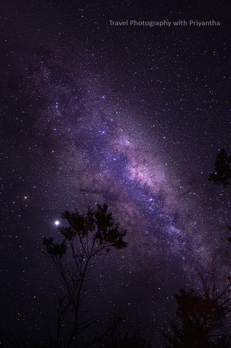 Glimmering Milky Way
