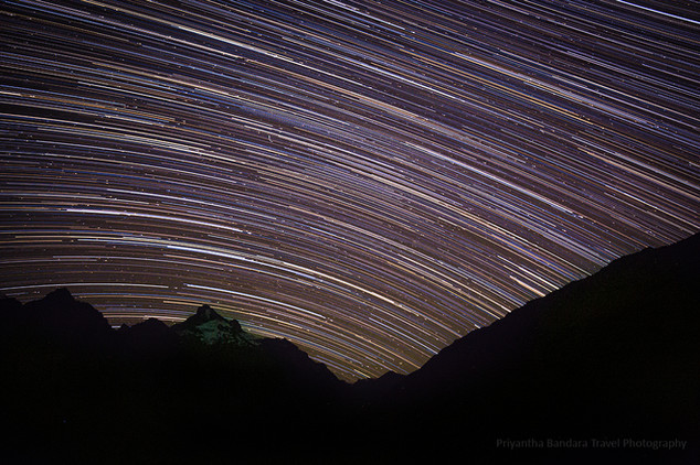 Star Trailing over the Himalaya