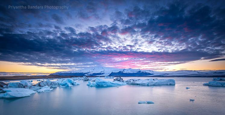 Icelandic Glacier Sunset