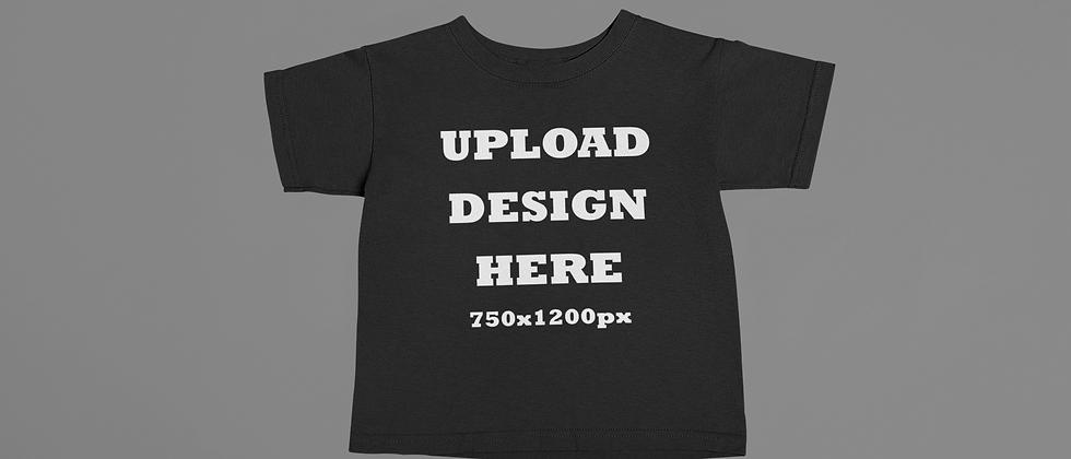 Toddler- Black Custom T-Shirt