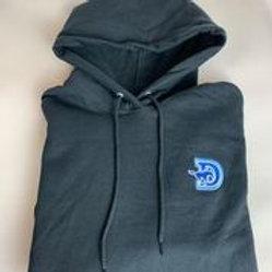Unisex Black Hoodie - D-Logo