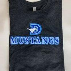 Unisex Black Next Level  Mustang T-Shirt