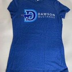 Women's Fitted Blue Dawson T-Shirt