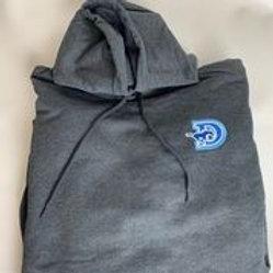 Unisex Dark Grey Hoodie D-logo