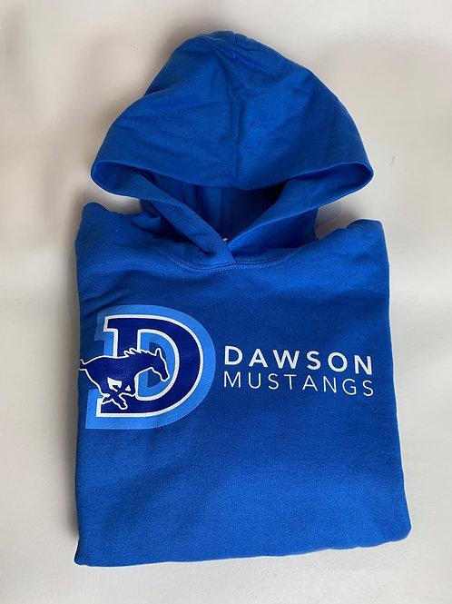 Kids Blue Dawson Mustangs Hoodie