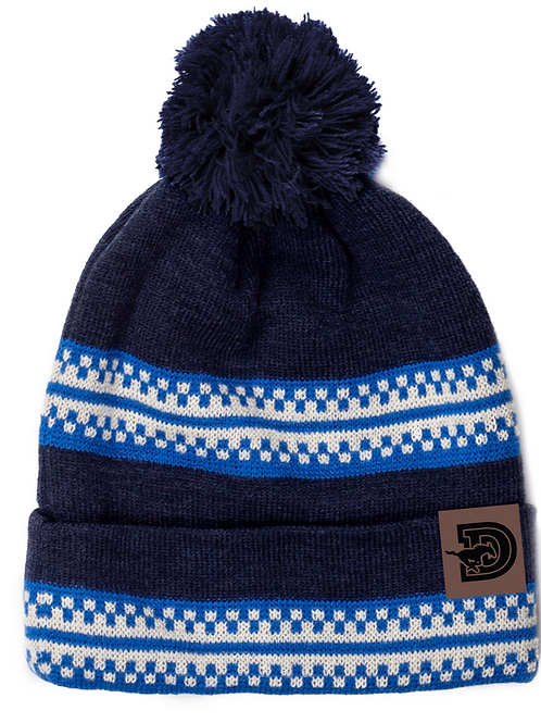 One Size Stylish Dawson Winter Hat-Designed stripes