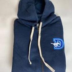 Unisex Adult Navy Next Level Zip Sweatshirt