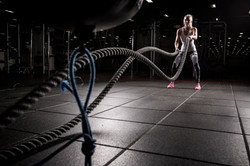 Sports photography battle ropes at Spooky Nook