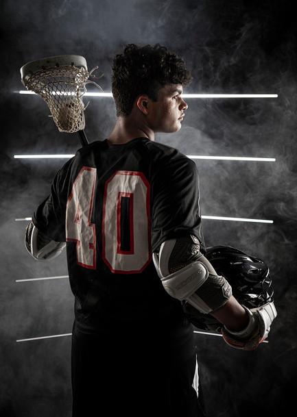 Creative sports portrait