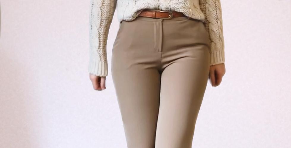 Pantalon coupe droite Beige