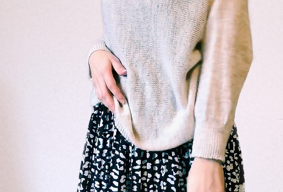 Pull Mailles fines Et Noeud Beige