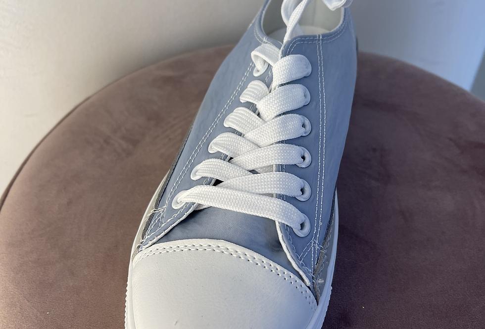 Baskets toile bleue