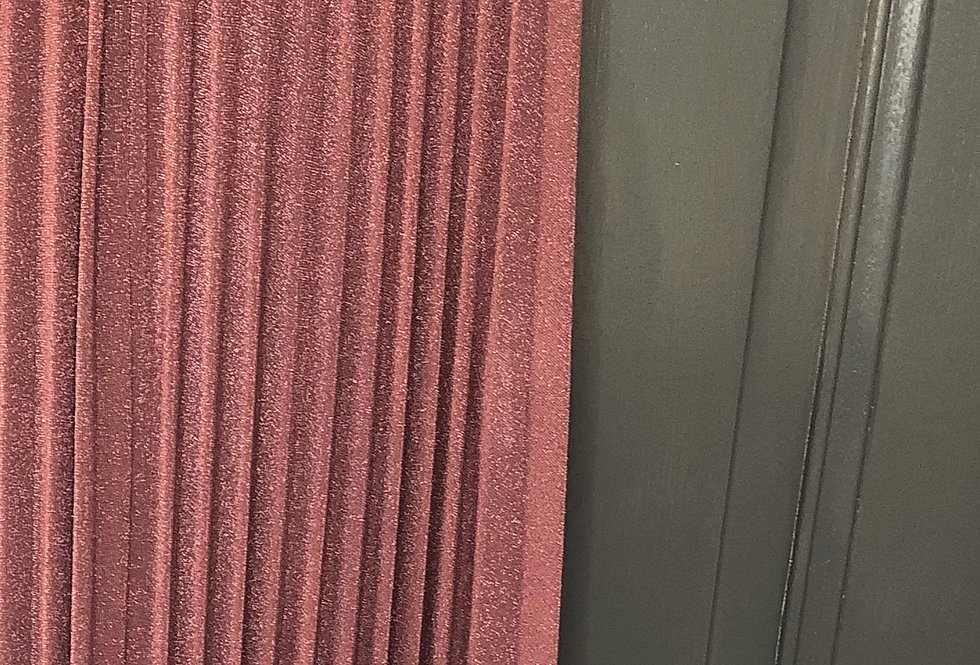 Jupe plissée pailletée Fuchsia