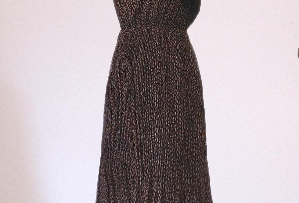 Robe longue motif léopard Senes