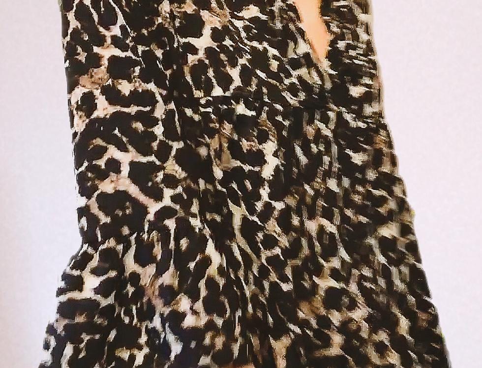 Robe mi-longue léopard KAIA