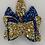 Thumbnail: Barrette Pailletée Bleue et dorée