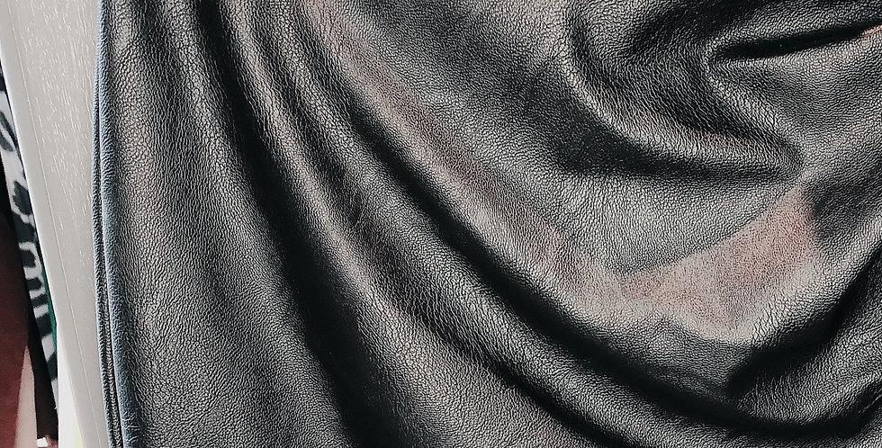Jupe courte simili cuir Noire