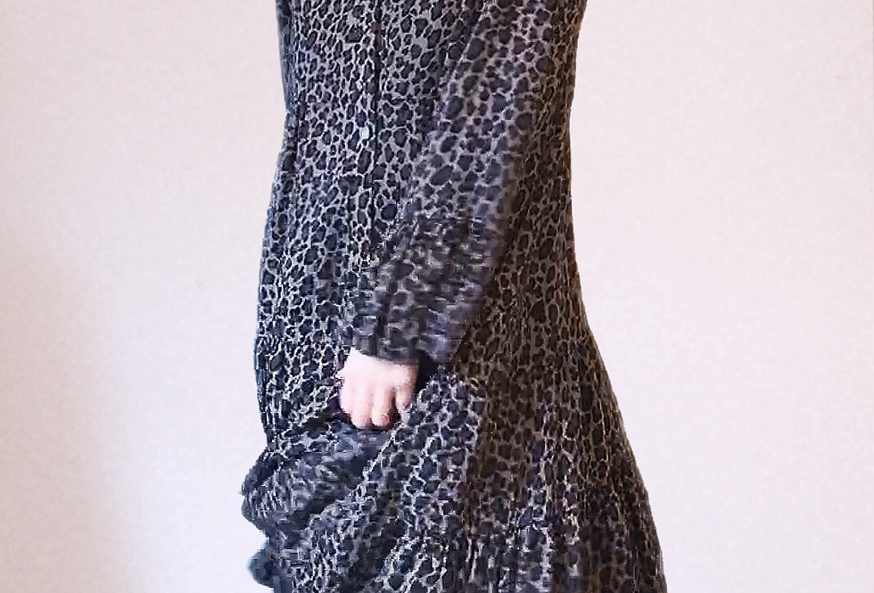 Robe Mi-longue léopard Andromede