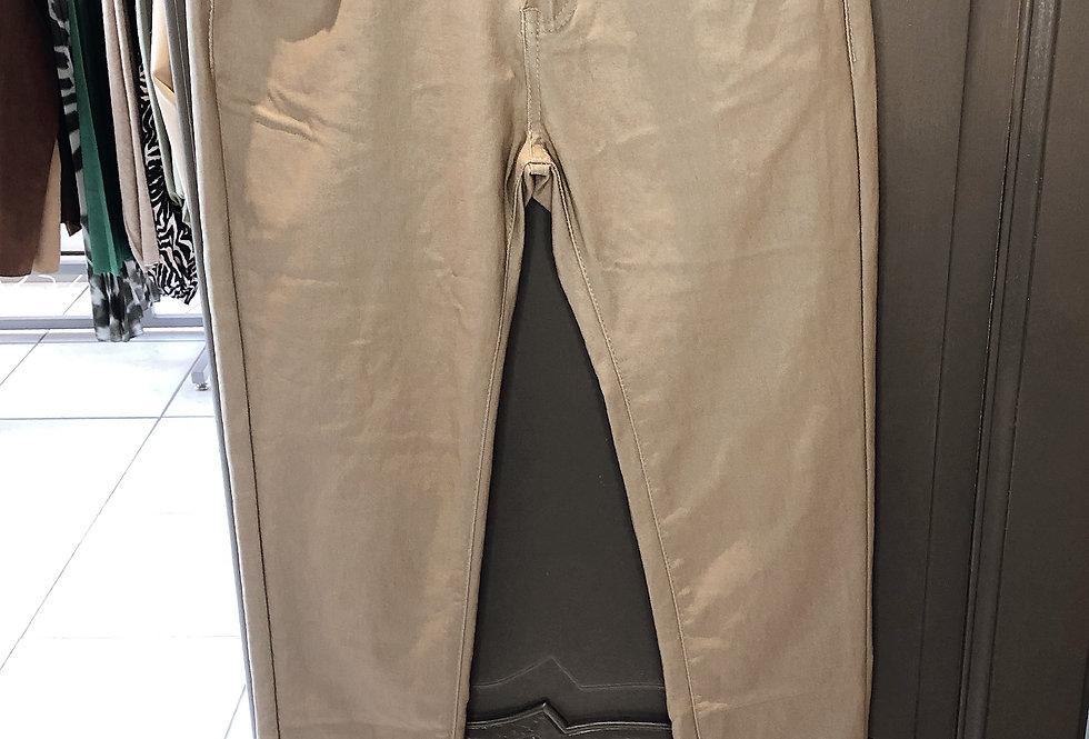 Pantalon aspect huilé Ficelle