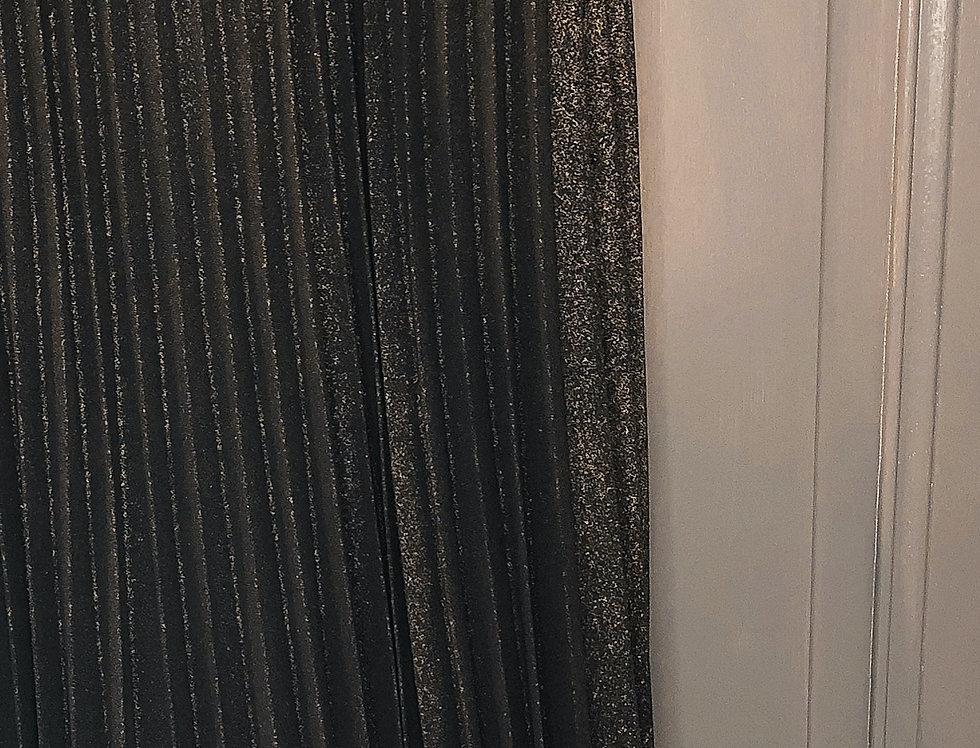 Jupe plissée pailletée Noire