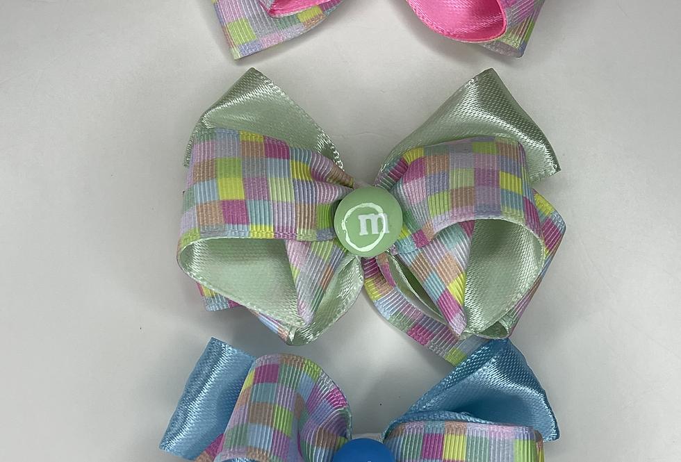 Barrette ruban Bonbons pastels