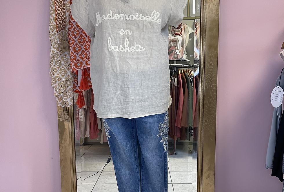 T-shirt Lin Différents coloris