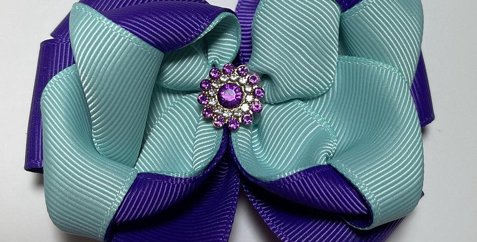Barrette Strass violet