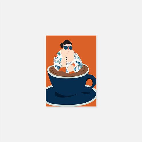 Postkarten | Frau in der Tasse