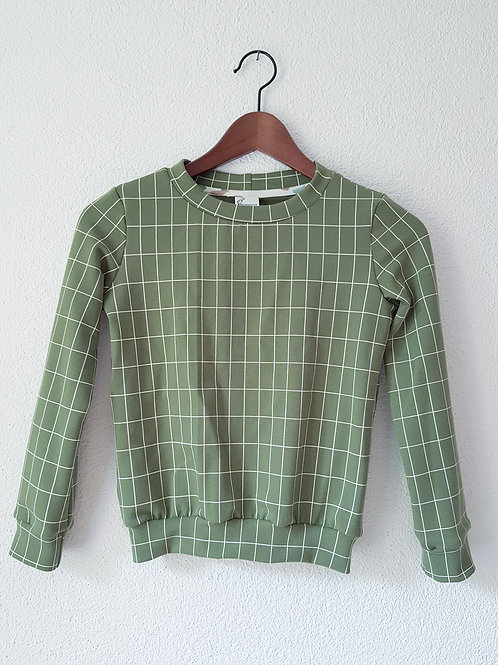 Pullover   Gitter grün