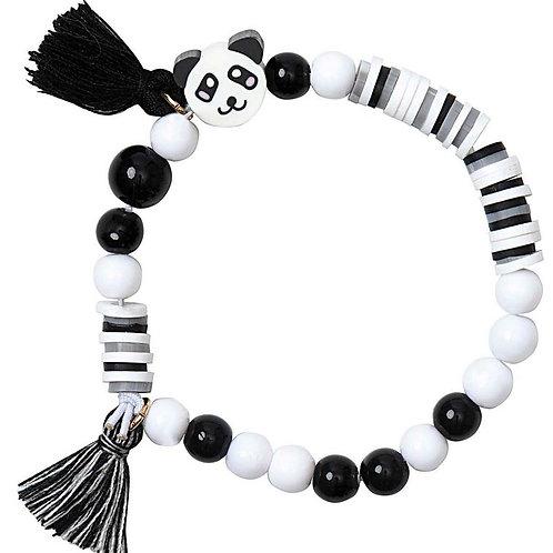 Perlen Armband Set | schwarz & weiss
