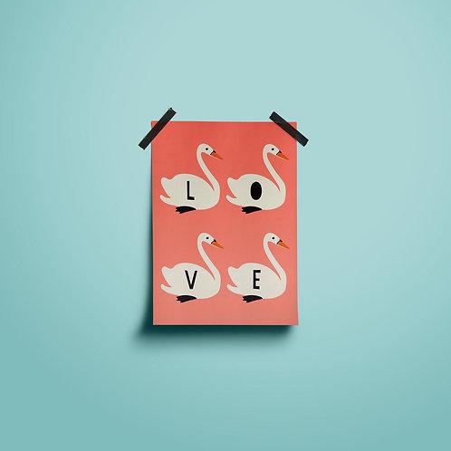 Postkarten | Swan Love