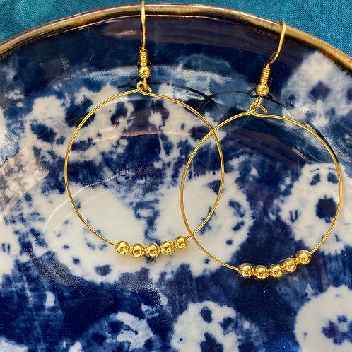 Ohrringe | Goldige Perlen