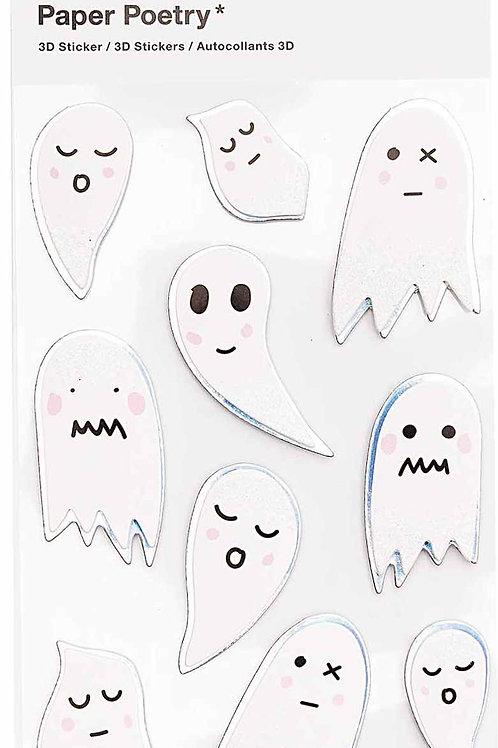 3D Sticker | Ghosts