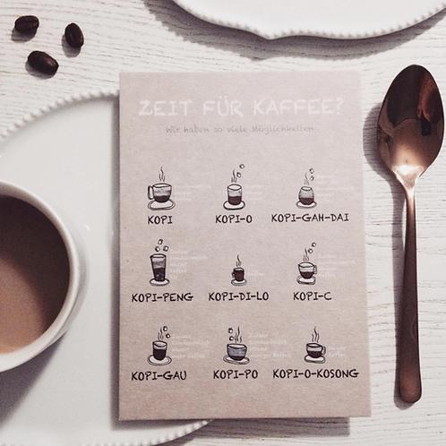 Postkarte | Zeit für Kaffee?