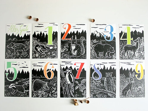 Postkarten | Zahlen
