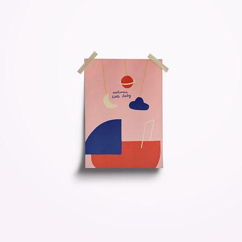 Postkarten | Baby rosa