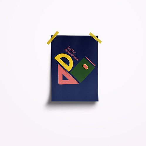 Postkarten | Hallo Schulkind blau