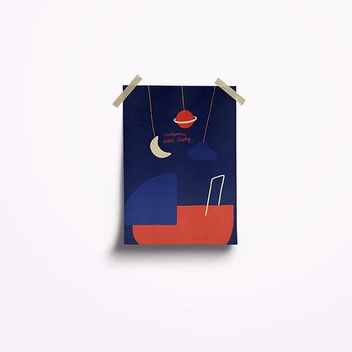 Postkarten | Baby blau