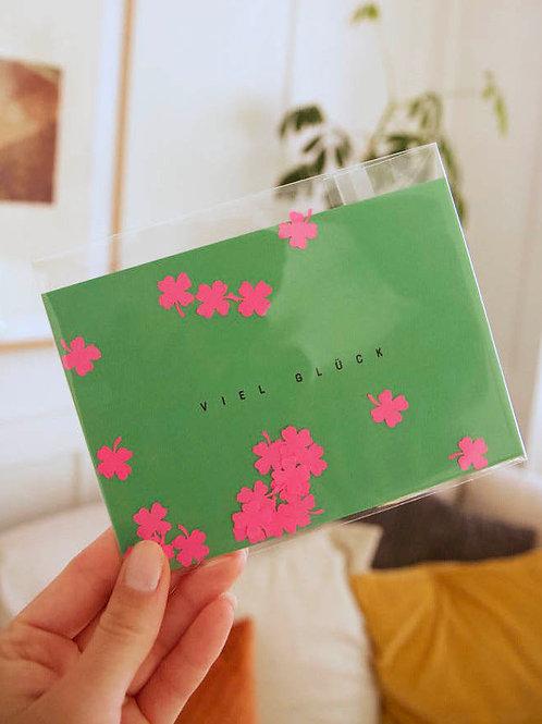 "Postkarte | Konfetti ""Viel Glück"""