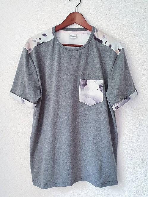 T-Shirt Men (L) | watercolor grau