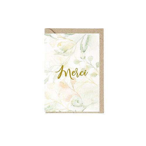 Grusskarte mit Umschlag | Merci