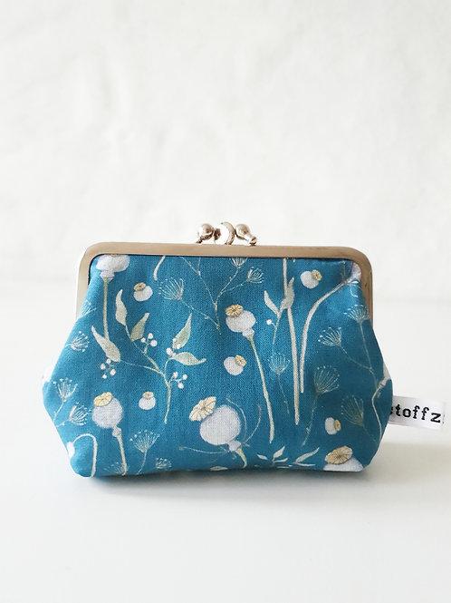 Doppelclip | Blumenwiese blau