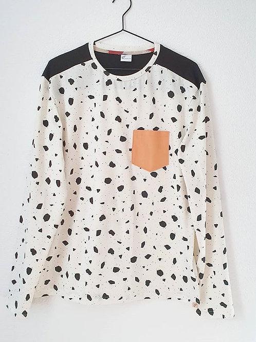 Männer Shirt (L) | black & white Shape