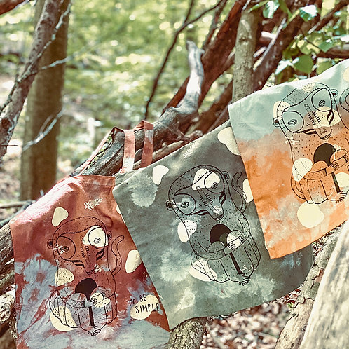 Stofftaschen | Batik 2-Farben Siebdruck