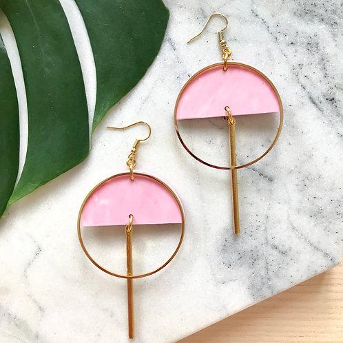 Ohrschmuck Lunar | soft pink marble