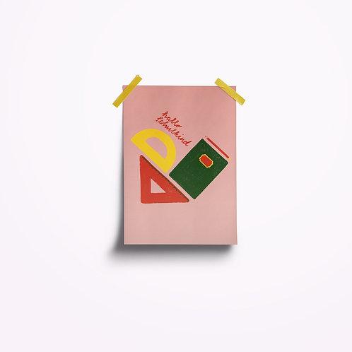 Postkarten | Hallo Schulkind rosa