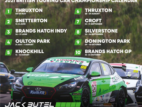 Jack Butel British Touring Car Schedule